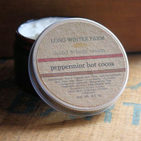 Long Winter Farm Peppermint Hot Cocoa Skin Cream