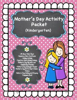 Mother\'s Day Kindergarten Activity Packet