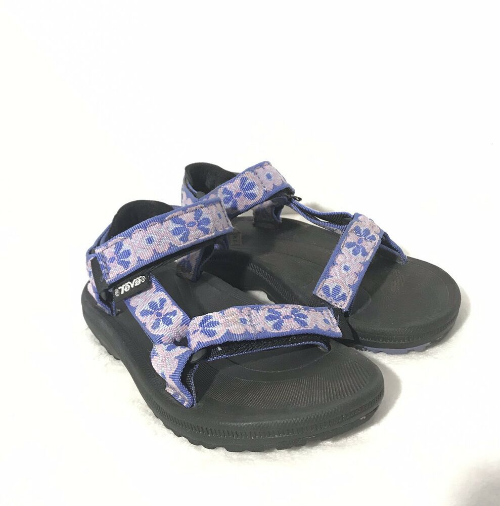 81230b29e4da Teva Hurricane Kid Youth Girls Size 1 Hiking Walking Sandals Shoes Purple  Flower
