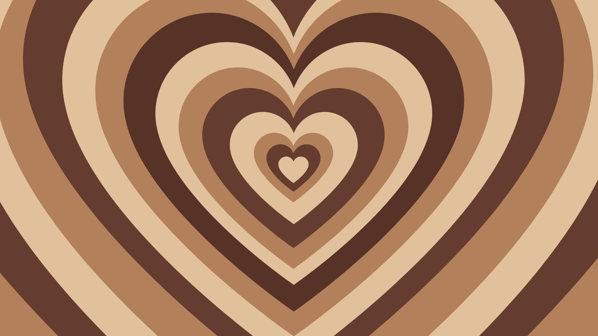 Brown Hearts Laptop Macbook Wallpaper Aesthetic In 2021 Macbook Wallpaper Desktop Wallpaper Art Aesthetic Desktop Wallpaper