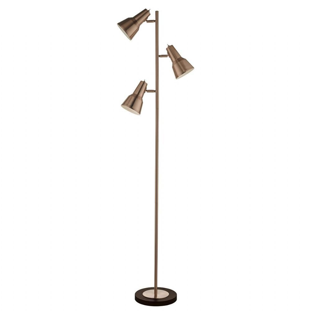 3 Light Floor Lamp Captivating Osnabruck 3 Light Floor Lamp Copper  Floor Lamp And Lights Review
