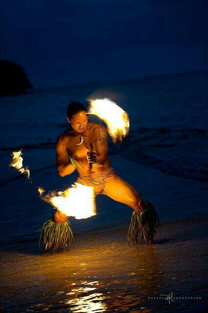 Fire Dancers Fire Dancer Hawaiian Islands Dancer