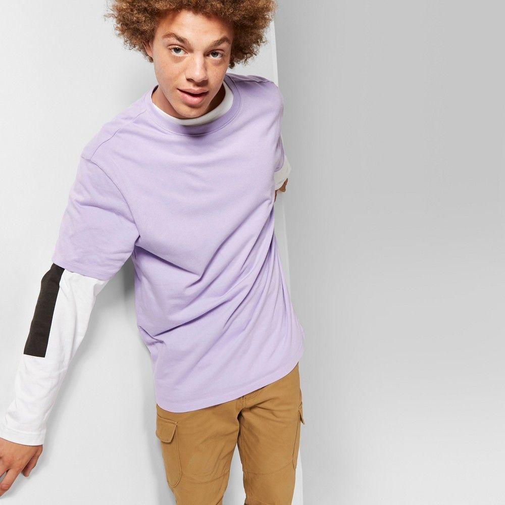92a0eb57b Men's Short Sleeve Boxy T-Shirt - Original Use Violet Tulip 2XL ...