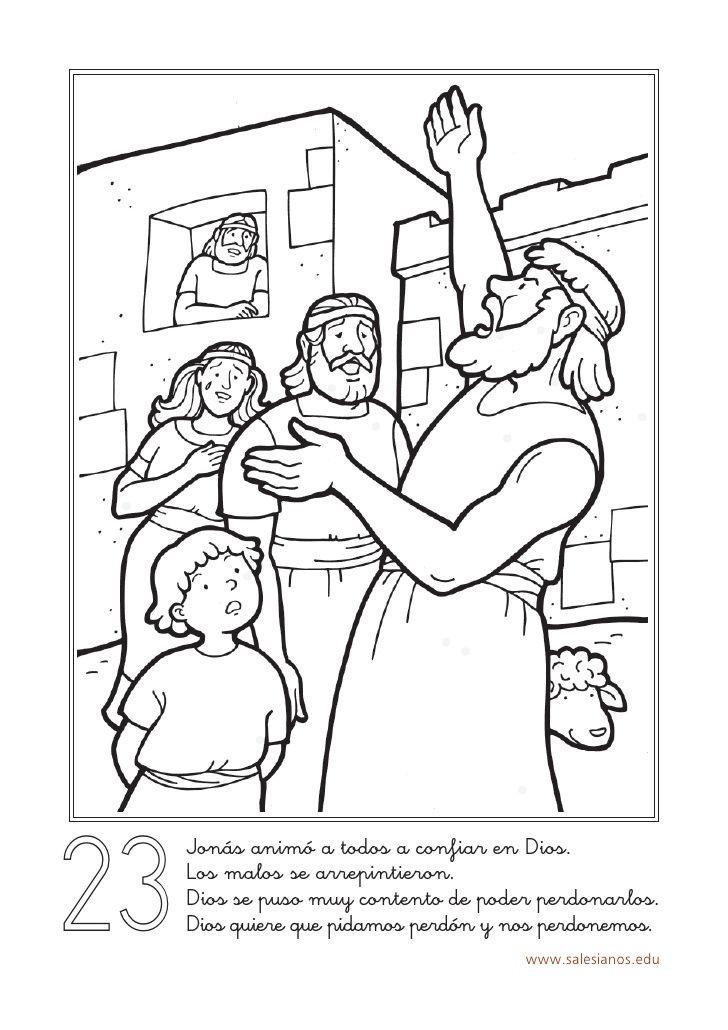 23 Jonás animó a todos a confiar en Dios. Los malos se arrepintieron ...