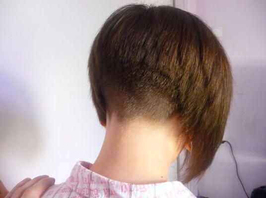 shaved nape bob hairstyles