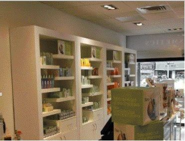 #Perfumedisplay -cabinets - Quality bespoke perfume cupboards designed in white high gloss - manufactured to a high standard - supplied by Shopfitting Supplies Ltd - 35 years experience.