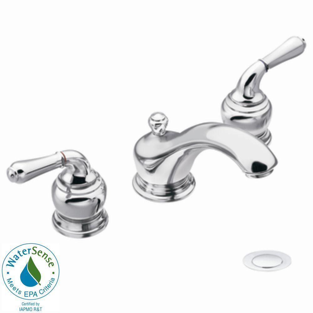 Moen Monticello 8 In Widespread 2 Handle Low Arc Bathroom Faucet Trim Kit In Chrome Valve Not Incl Low Arc Bathroom Faucet Sink Faucets Kitchen Faucet Repair [ 1000 x 1000 Pixel ]