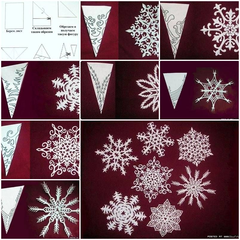 How to make snowflakes of paper step by step diy tutorial for Diy snowflakes paper pattern