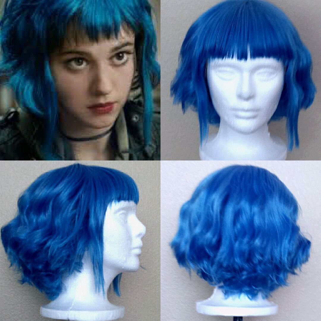 Ramona Flowers Wig Detail Ramona Flowers Hair Ramona Flowers Blue Hair