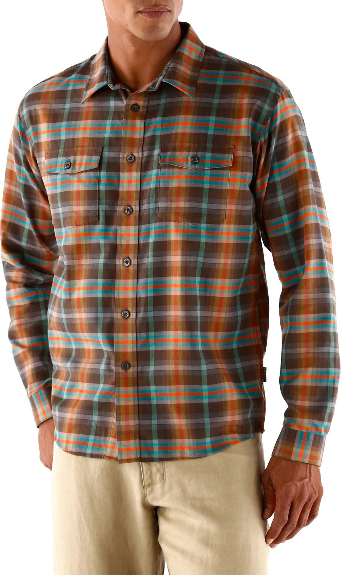 Flannel shirt men outfit  This midweight organic cottonpolyester flannel shirt is soft and