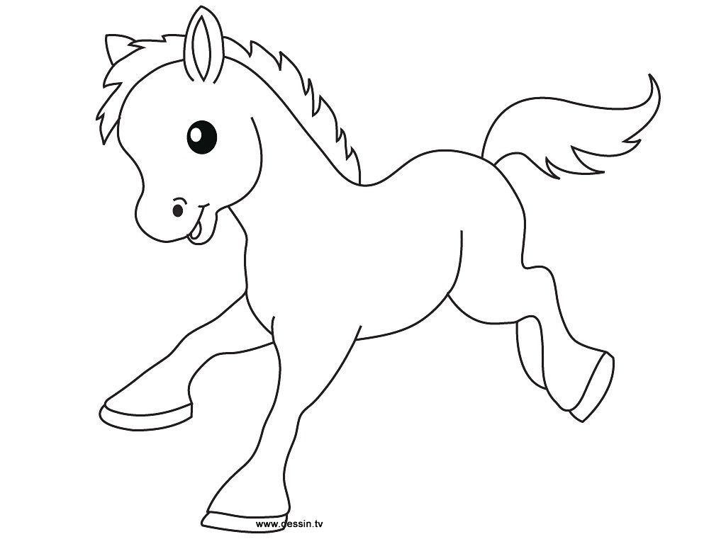Cute Baby Horse Coloring Pages Only Coloring Pages In Draw Easy ...
