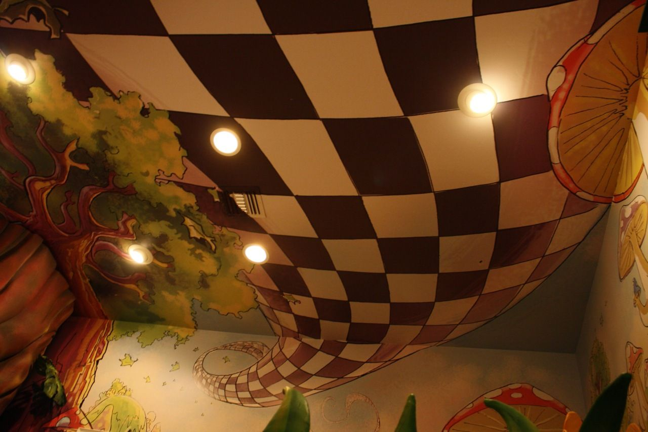 Floor Of Runway Stage I Know That This Is An Image Of A Ceiling But This Checkerboard P Alice In Wonderland Room Alice In Wonderland Theme Alice In Wonderland