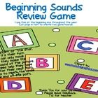 Students have to name the beginning sound before moving on. You can use a die or have them go from space to space, to make recording easier If they...