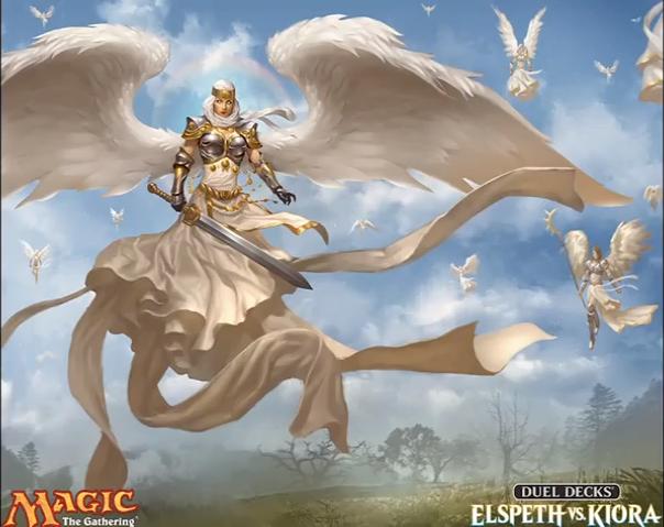 Duel Decks Elspeth vs Kiora Art, Angel warrior, Angel