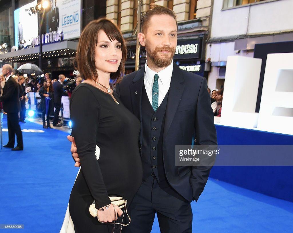 Tom & Charlotte at the Legend premiere. She's pregnant! Brilliant news. :)