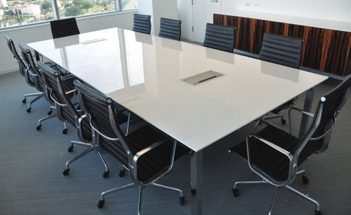 Delicieux Back Painted Glass Tabletop | Arnold Back Painted Glass Top Conference Table