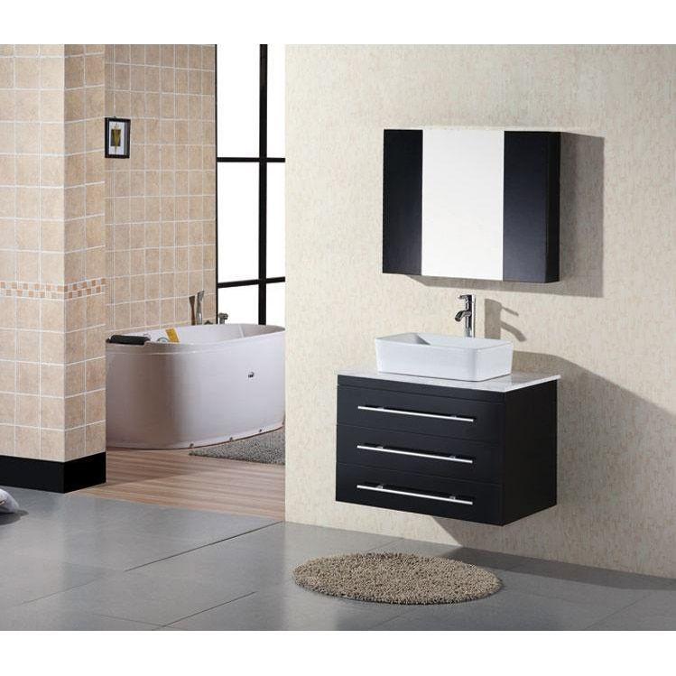 Exceptionnel Design Element Contemporary Wall Mount Espresso Bathroom Vanity Set  (Contemporary Wall Mount Bathroom Vanity W