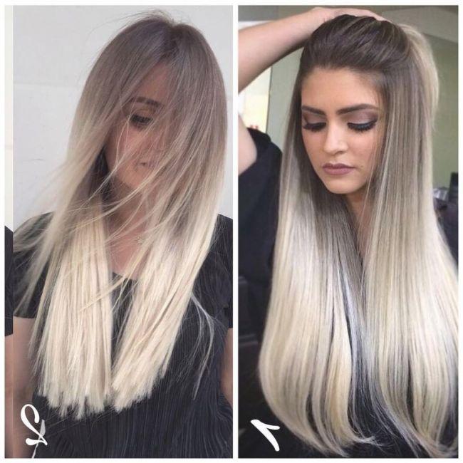 Mittellange haare frauen blond