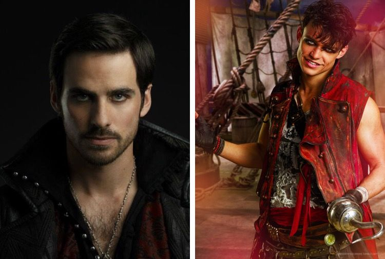 captain hook from once upon a time and harry hook from