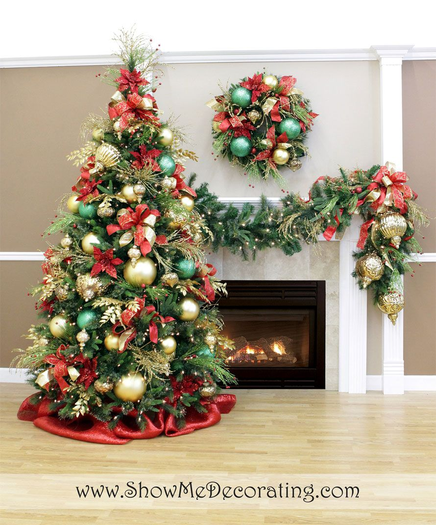 Red and gold christmas tree decorating ideas - Royal Red And Gold Christmas Tree Theme The Show Me Decorating