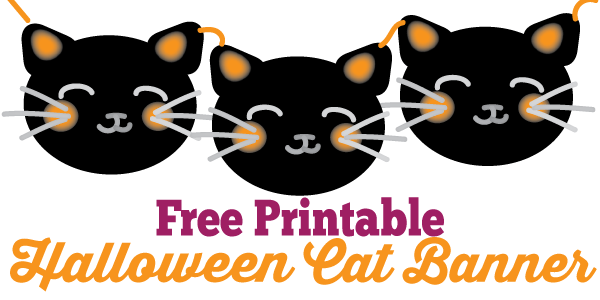 Halloween Cat Banner Free Printable Diy Halloween Cat Halloween Cat Halloween Printables Free