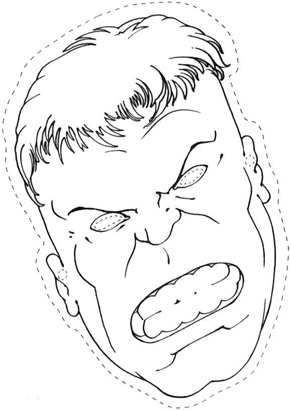 Hulk Ausmalbilder Zum Drucken 1104 Malvorlage Hulk: Masken Ausmalbilder 09