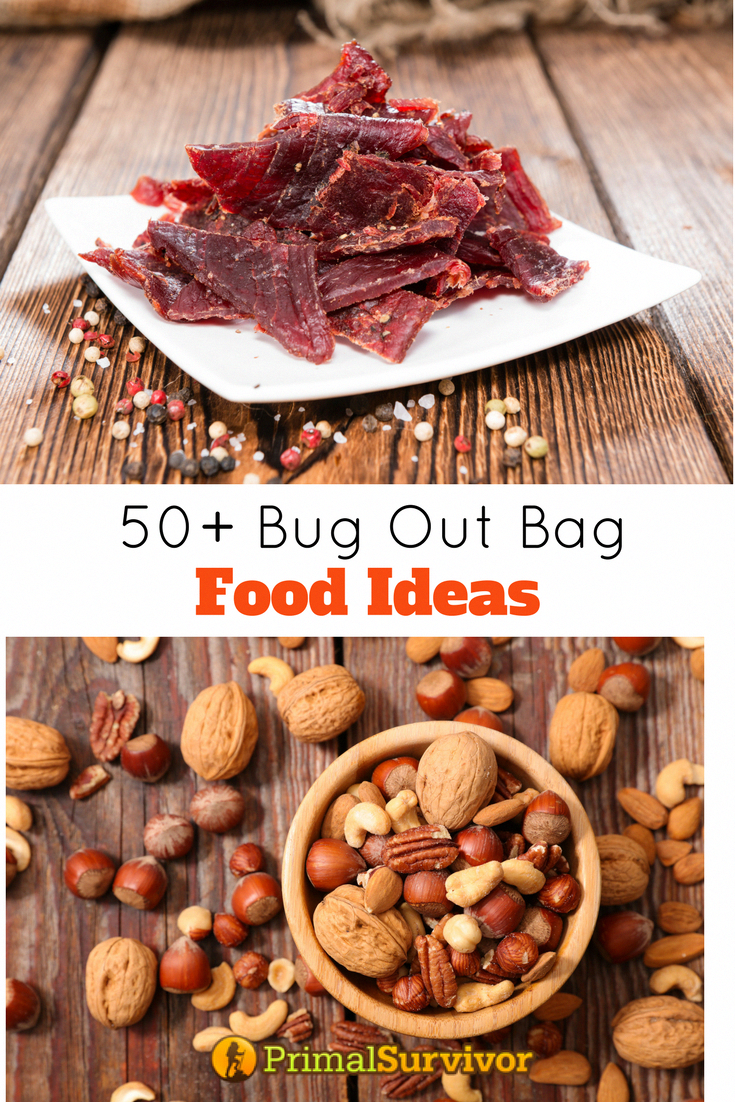 50 Bug Out Bag Food Ideas. A Bug Out Bag is meant for your survival, so each item should be chosen with care.  This includes the food for your Bug Out Bag.  Here are the requirements I have when selecting Bug Out Bag food.