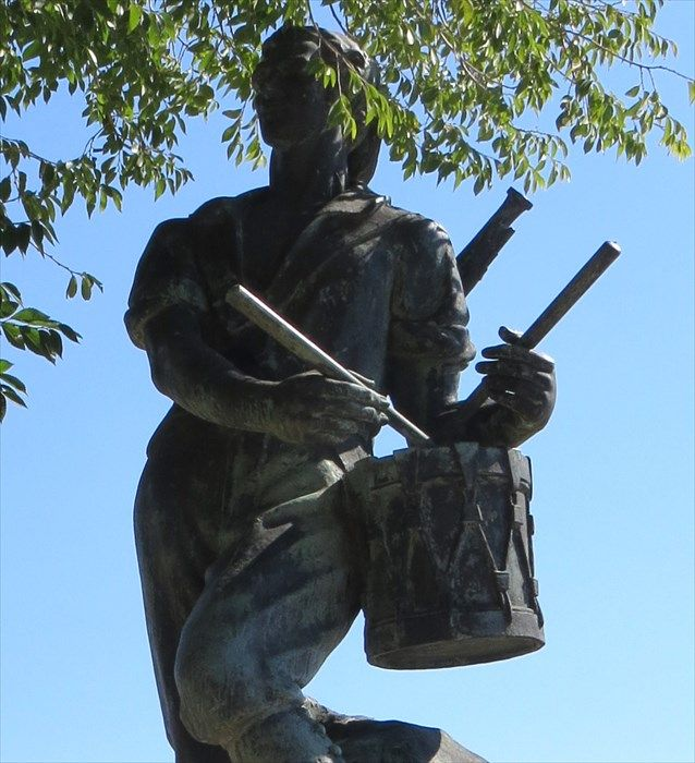The statue of the Drummer of El Bruc is located  at the Montjuïc Castle in Barcelona. The Montjuic Castle is an old military fortress atop Montjuic hill. The reason that this statue would be considered a statue of a legend is because they say that the Drummer played so loud that the opposing army thought they were about to face a much larger army than expected. Consequently, the famous Napoleon army was defeated. Again we see similarities to individual portraying their profession.