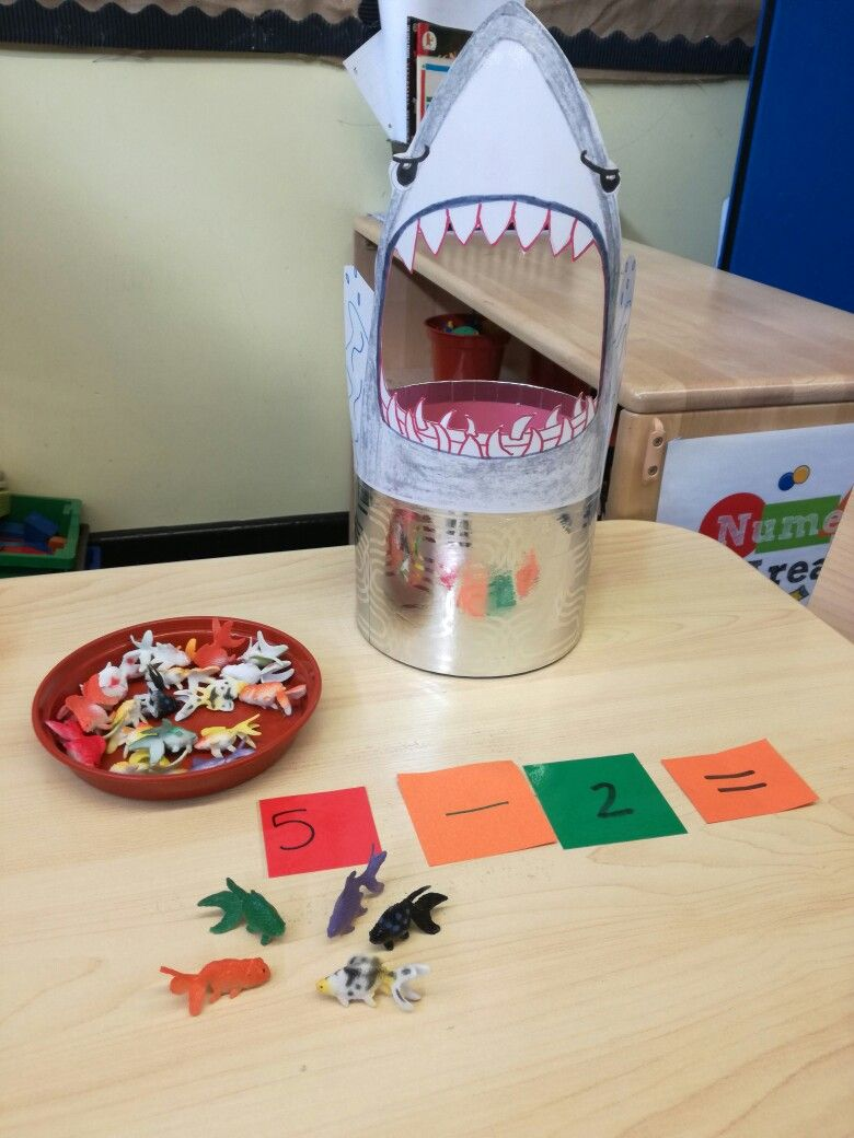 Children Take Away By Feeding The Shark Eyfs Activities Math Under The Sea Numeracy Activities [ 1040 x 780 Pixel ]