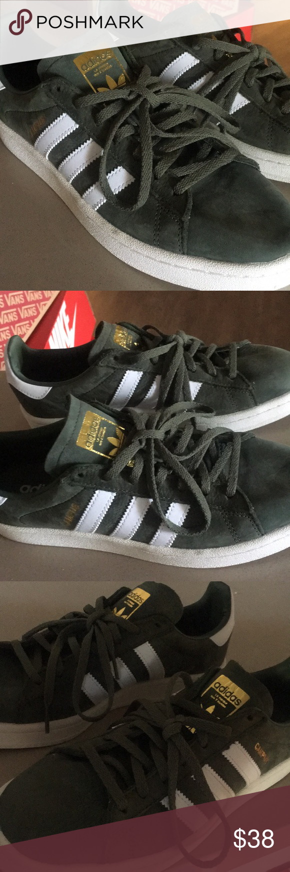 Size 8 Adidas campus sneakers | Gold
