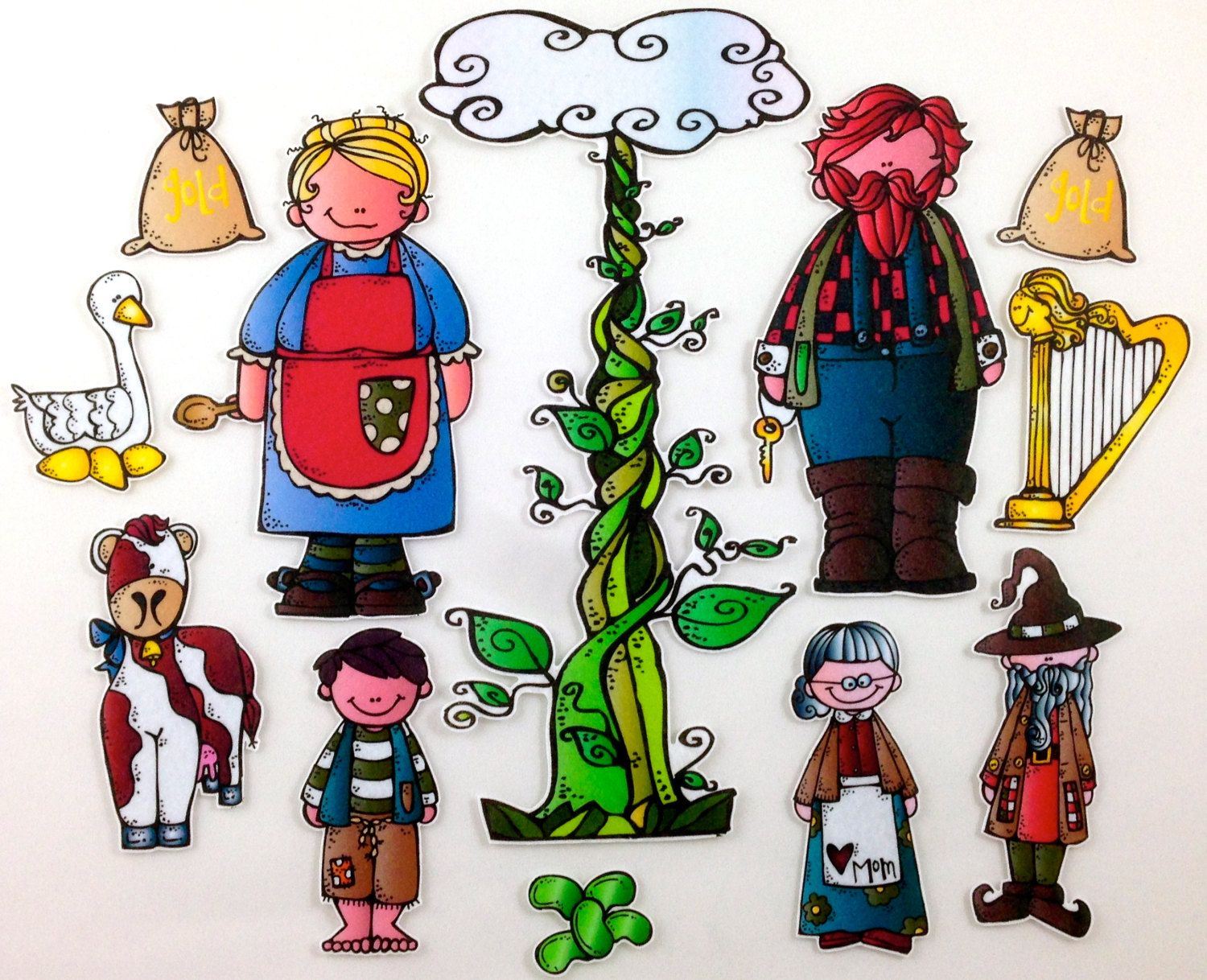Jack And The Beanstalk Felt Board Story Set By Bymaree On