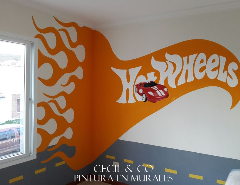 Kids room hot wheels habitaci n ni os pinterest hot for Decoracion de cuarto hot wheels