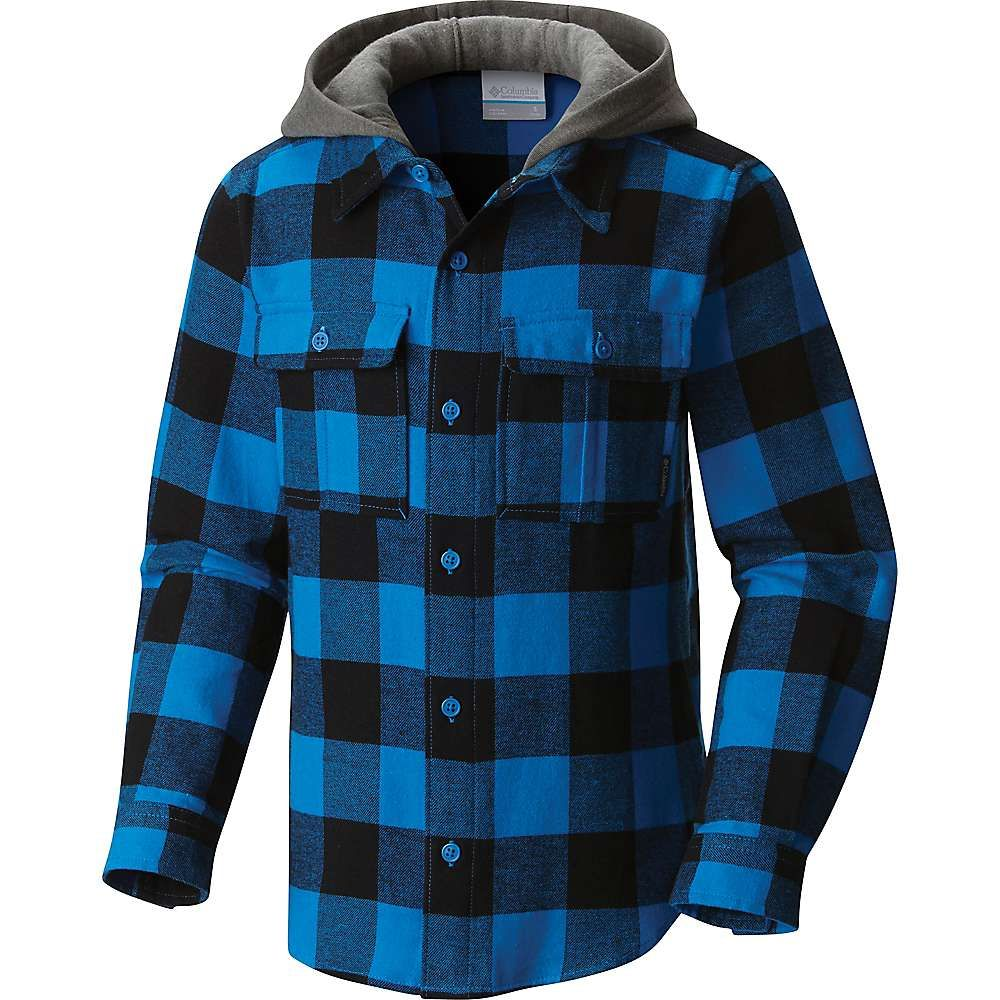 Flannel hoodie men  Columbia Youth Boulder Ridge Flannel Hoodie  Products  Pinterest
