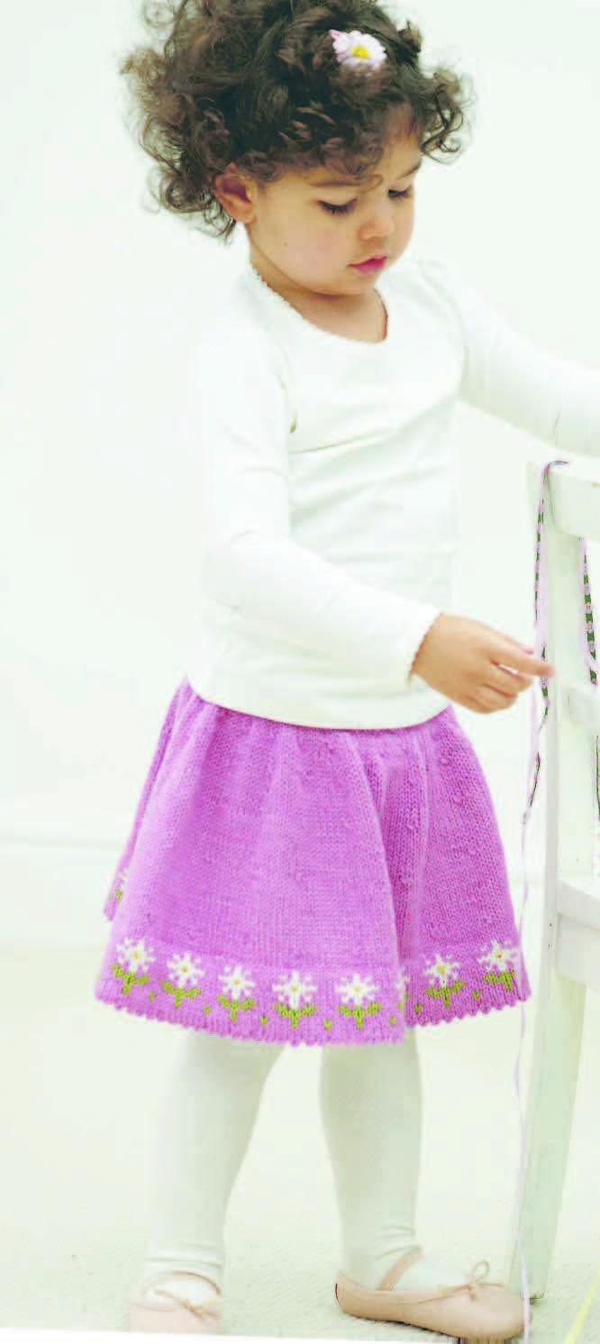 Free+Knitting+Pattern+-+Toddler+&+Children's+Clothes:+Fresh+as+a+Daisy+Skirt