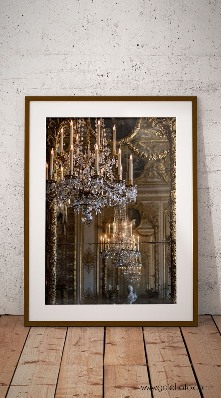 Versailles chandelier print paris photography romantic wall art