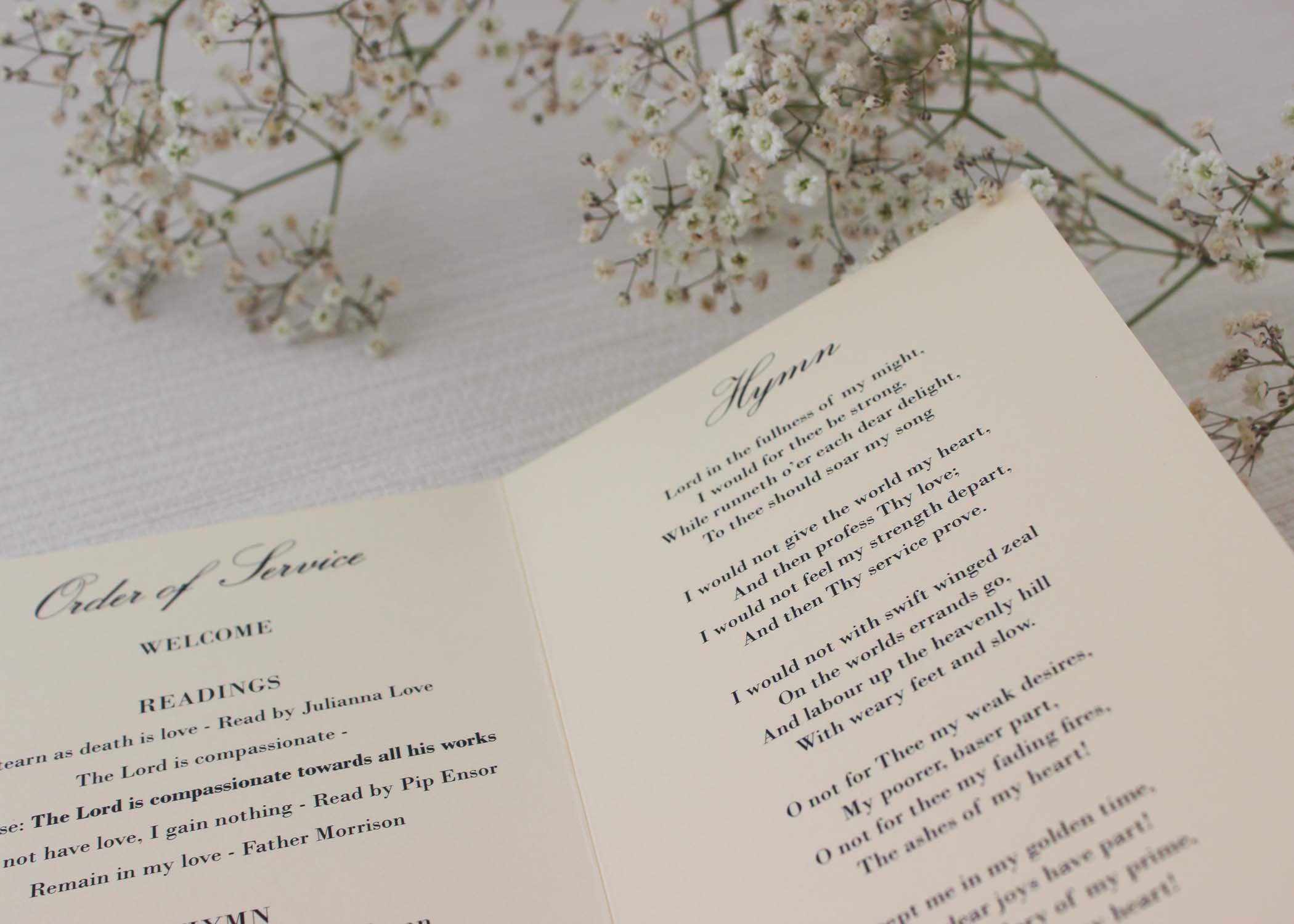 Traditional Monogram Order of Services | Monograms, Wedding order ...