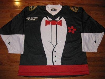 New rare louisiana ice gators sphl authentic tuxedo style hockey ... 3f847c3a97f