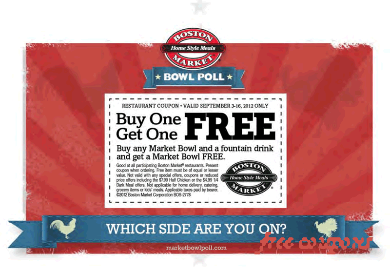 Boston Market Coupons (With images) Free printable coupons