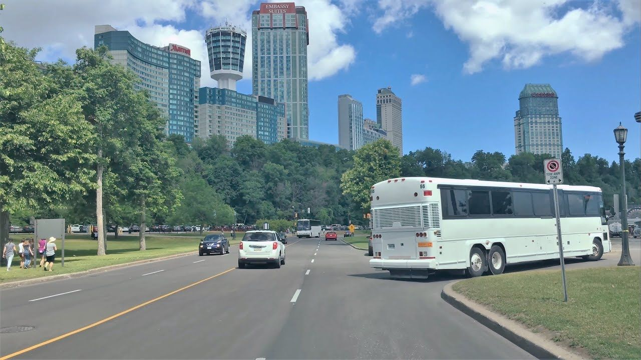 Driving Downtown Niagara Falls Ontario Canada 4k Via