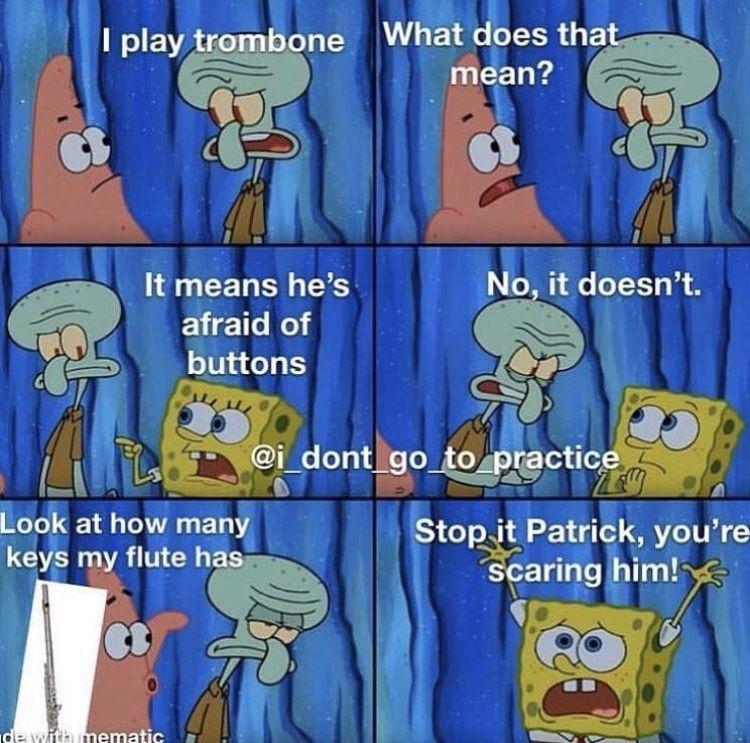 Piano/Flute Notes Band Memes Flute Edition Spongebob