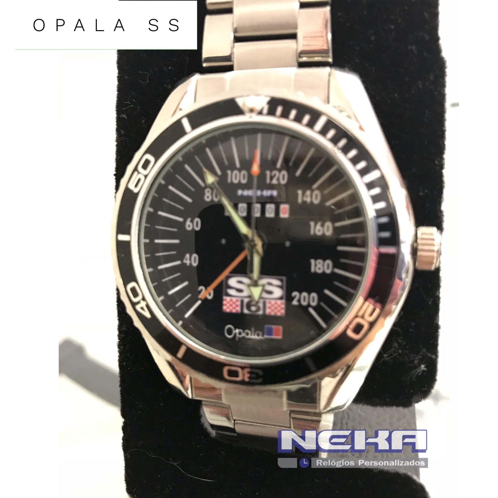 80b96a43c68 Painel Opala SS lindo relogio personalizado com pulseira cromada ...