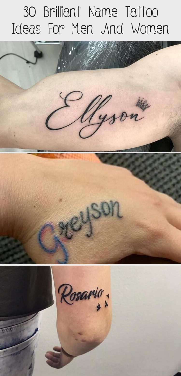 30 Brilliant Name Tattoo Ideas For Men And Women Tattoo On Muscle Arm Wholearm 30 Brilliant Na In 2020 Name Tattoo Name Tattoos For Moms Name Tattoos For Girls