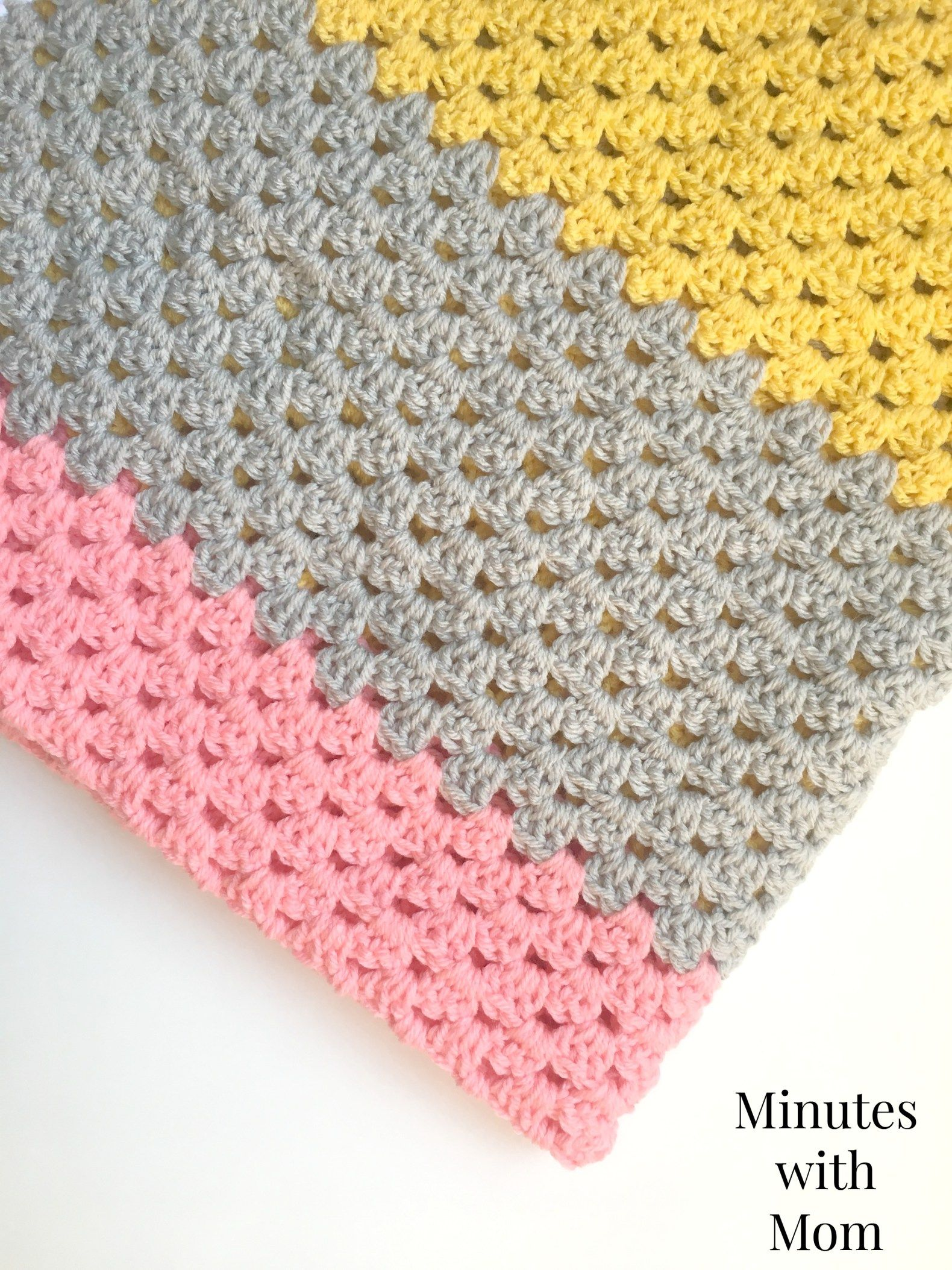 Color Block Granny Stripe Blanket with FREE PATTERN! | Pinterest