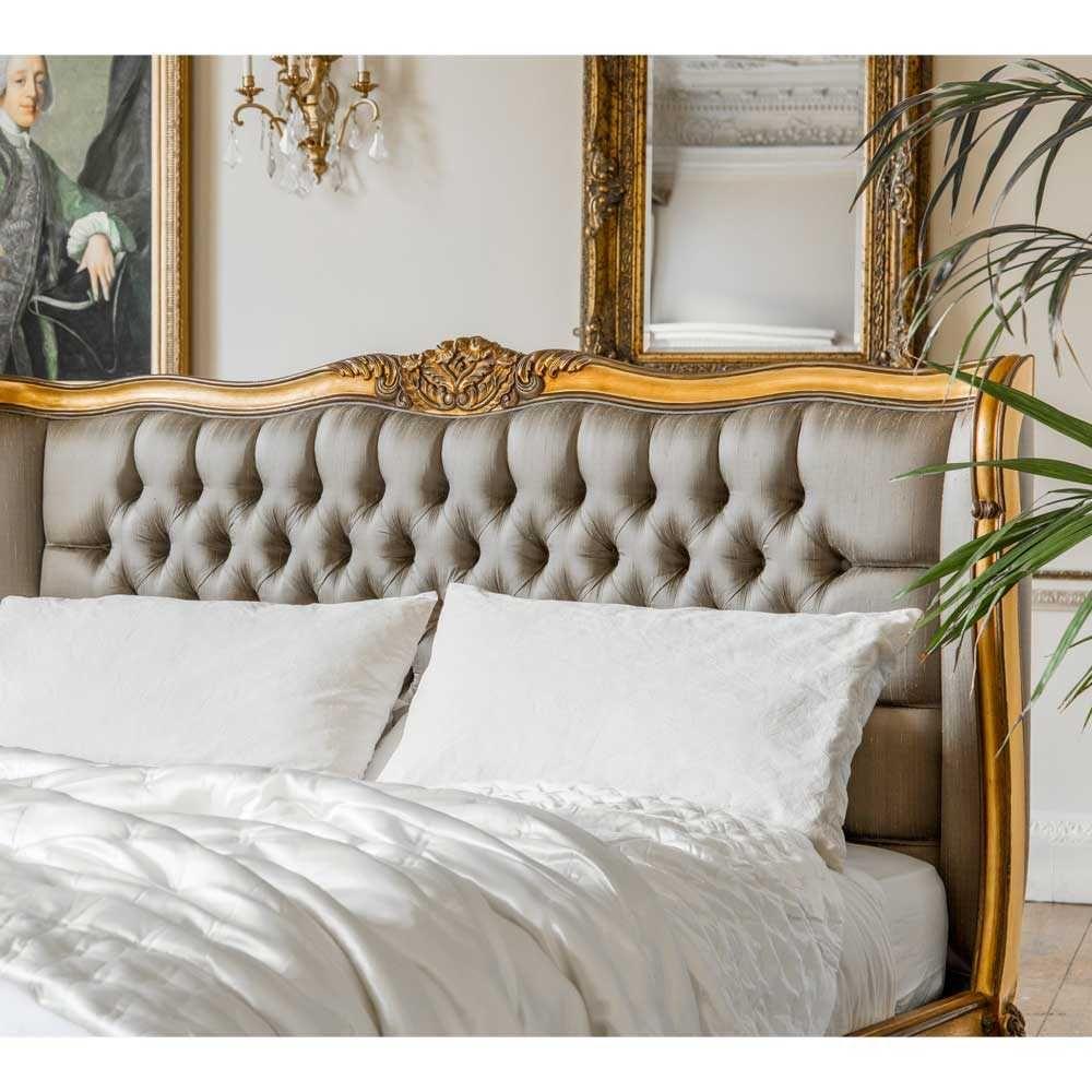 Best Palais De Versailles Luxury Upholstered Gold Bed Double 400 x 300