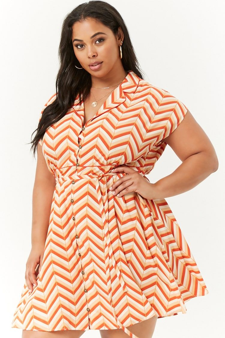Plus Size Chevron Shirt Dress in 2019 | Style Trends | Plus size ...