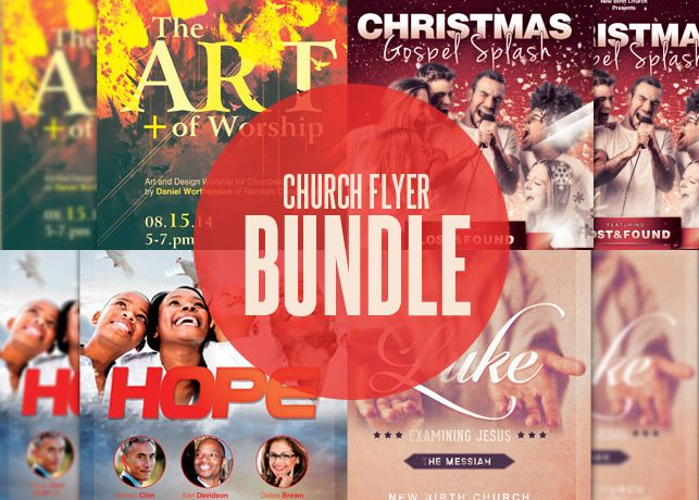 Church Flyer Template Bundle - $600 The Church Flyer Template - contemporary flyer
