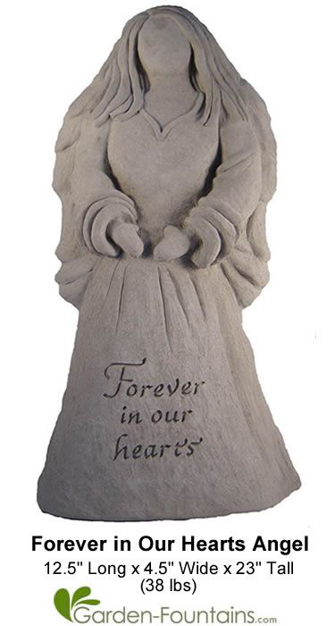 Forever In Our Hearts Cast Stone Angel Statue. Something Like This Next To  Aunt And · Memorial GardensAngel ...