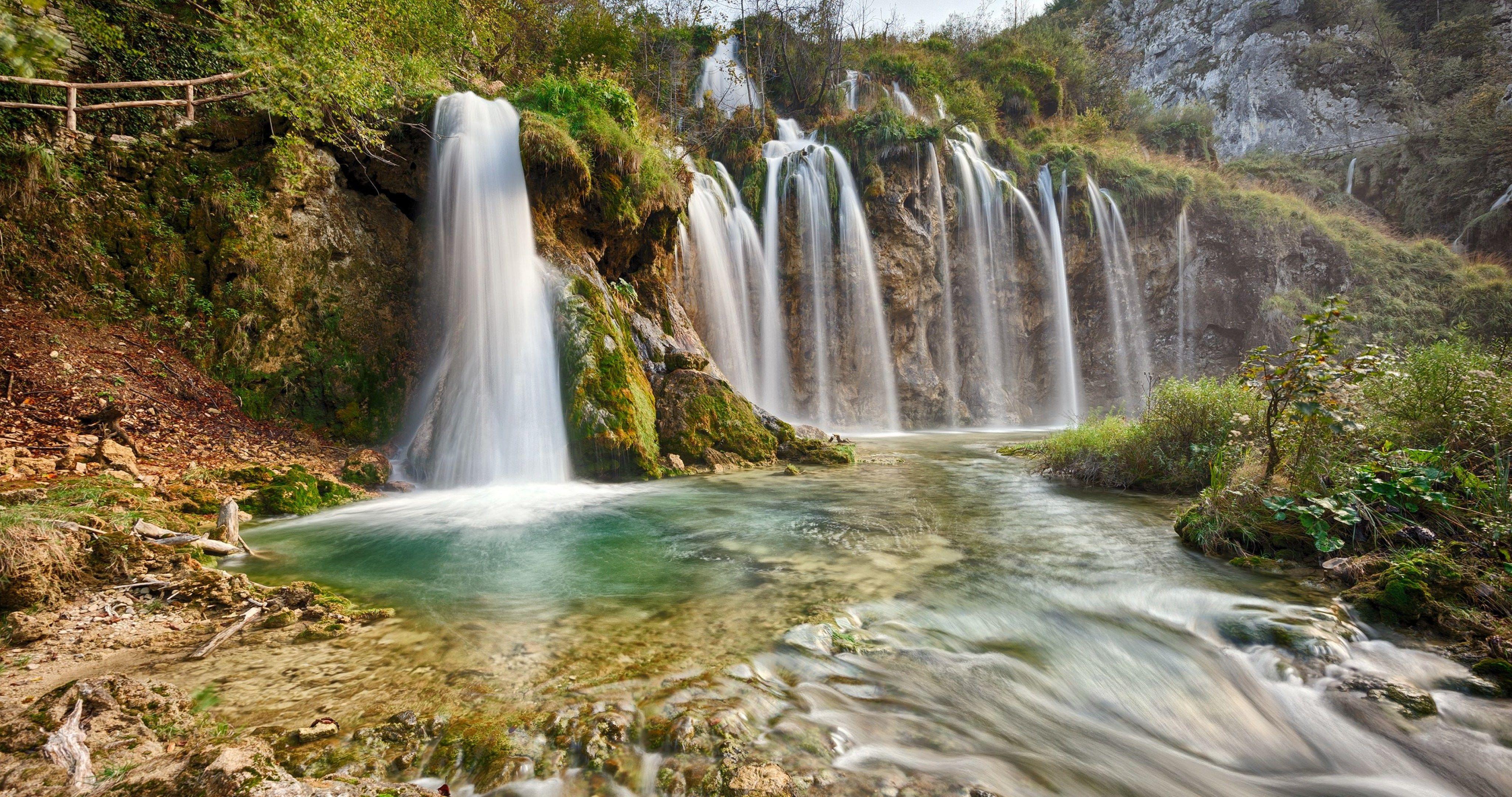 plitvice national park 4k ultra hd wallpaper Waterfall