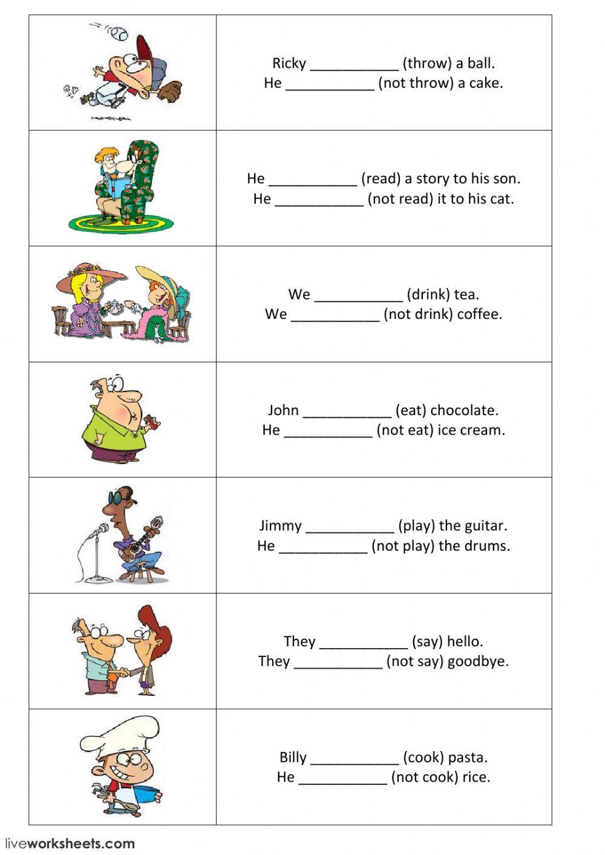 Present Simple Positive And Negative Sentences Part 1 Interactive Wor Presente Simple En Ingles Material Escolar En Ingles Hojas De Ejercicios Para Ninos [ 1413 x 1000 Pixel ]