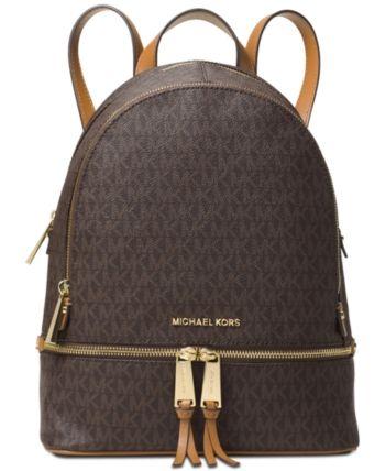 09b064024e8b Michael Michael Kors Signature Rhea Zip Medium Backpack - White in ...